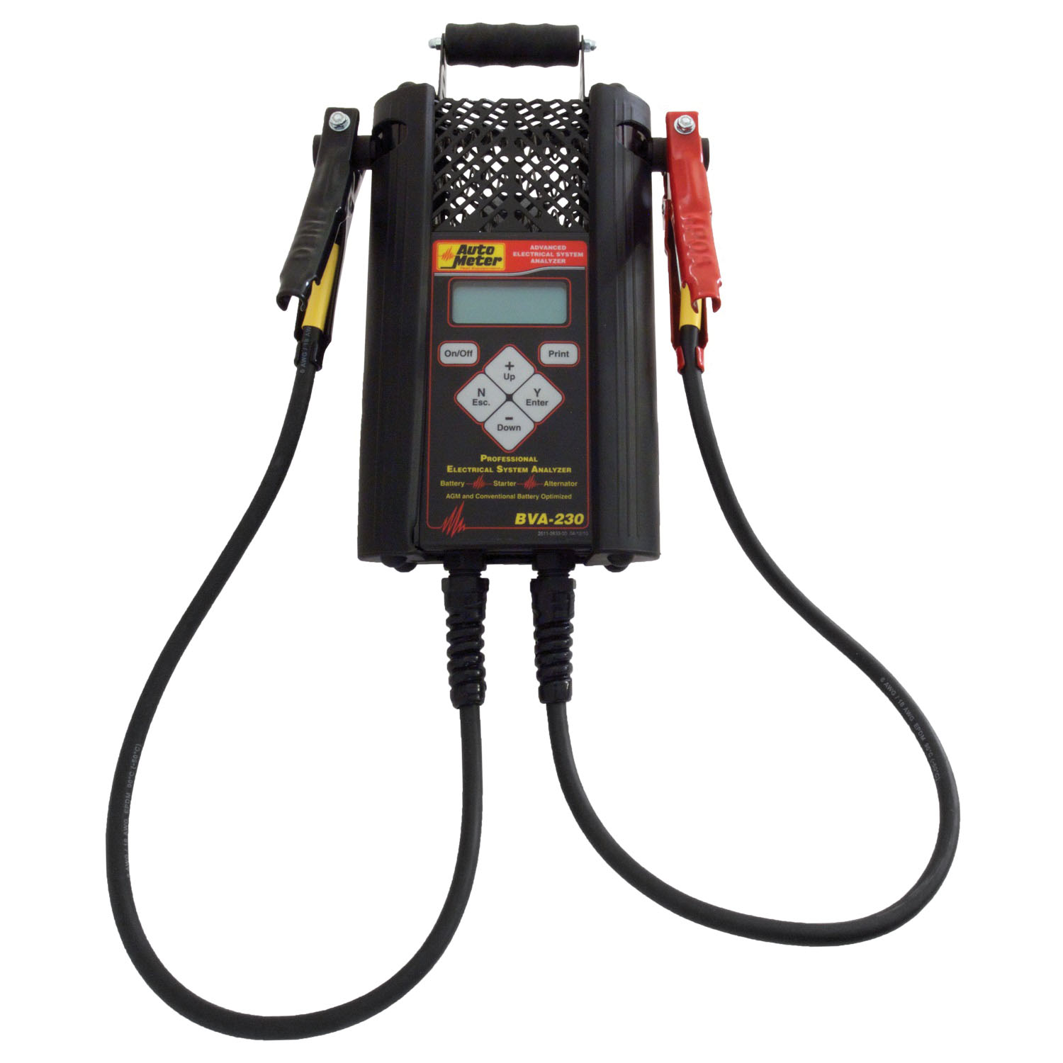 Auto Meter Products Rugged Handheld Electrical System Analyzer w/120 Amp Load - AGM SLI and Deep Cycle Optimized