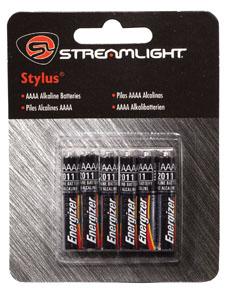 Streamlight 6 Pack AAAA Alkaline batteries - for Stylus & Stylus Reach
