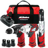 AC Delco 12V 3-in-1 Impact Wrench, Drill Driver & Ratchet Wrench Cordless Combo Kit