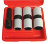 "Astro Pneumatic 3 pc. 1/2"" Drive Thin Wall Flip Impact Socket Set with Protective Sleeve"