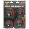 ATD Tools Tape Measure Set, 4pc