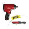 "Chicago Pneumatic 1/2"" Super-Duty Square Drive Impact Wrench with 3/8"" General-Duty Ratchet"
