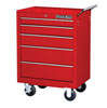 "Extreme Tools 26"" 5 Drawer Roller Tool Cabinet, Red"