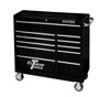 "Extreme Tools 18"" Extreme 41"" 11 Drawer Roller Cabinet, Black"