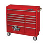 "Extreme Tools 18"" Extreme 41"" 11 Drawer Roller Cabinet, Red"