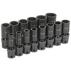"Grey Pneumatic 1/2"" Drive 14 Pc. Deep Length Fractional Univ. Set"