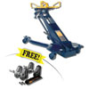 Hein-Werner Automotive 1Ton Hydraulic Trans Jack w/ FREE Fuller Transmission Adapter Kit