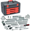 "GearWrench Master SAE/Metric 6 and 12 Point 1/4"", 3/8"" and 1/2"" Drive Mechanics Tools Set, 225pc"